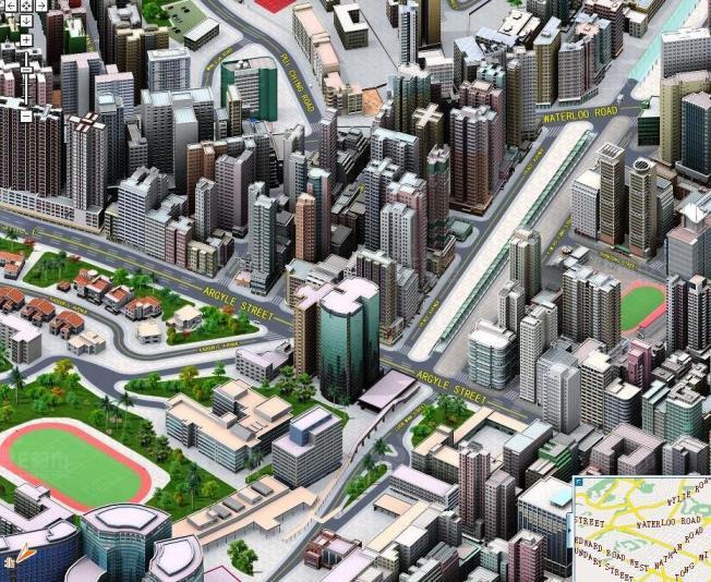 Cool Pixel 3-D view of Hong Kong.