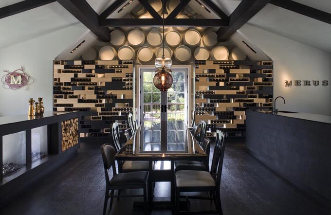 A private tasting room.
