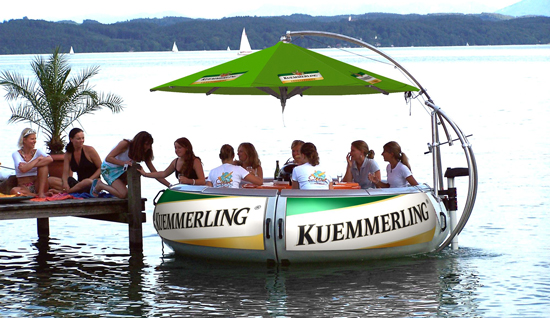 The perfect way to enjoy friends on the water.