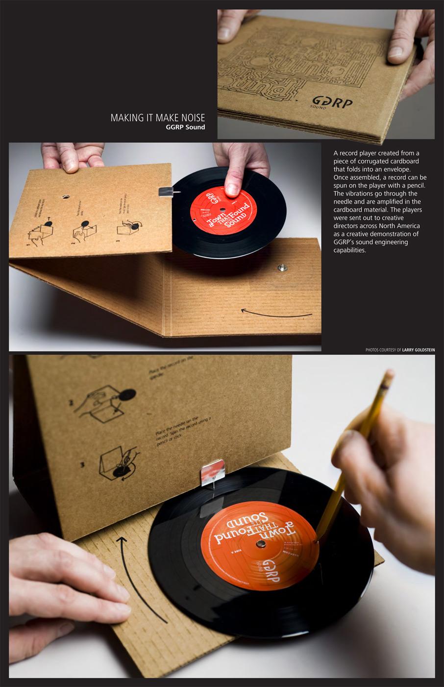 """Cardborad record player"""