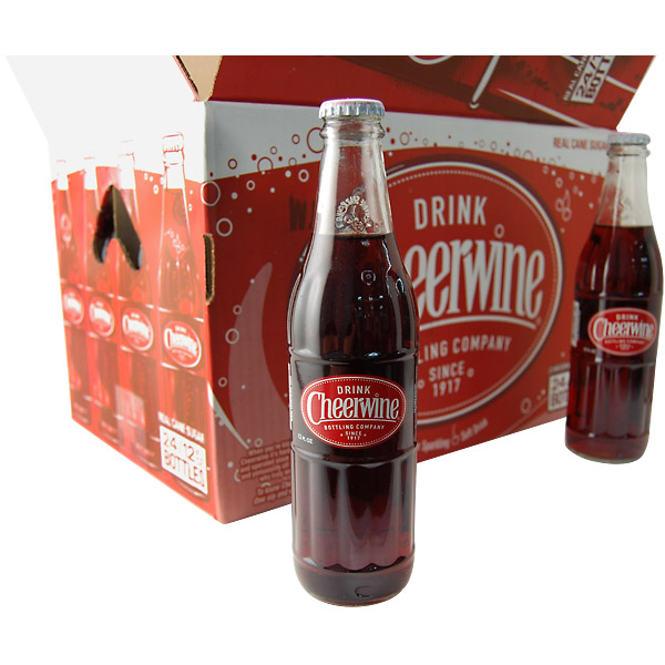 A case of Cheerwine